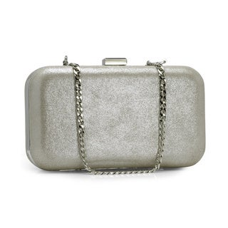 Jasbir Gill Women's Silver Leather Clasp Clutch (India)