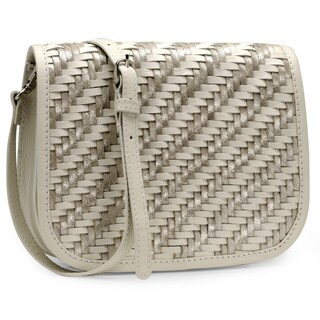 Jasbir Gill Women's White and Silver Leather Clutch (India)