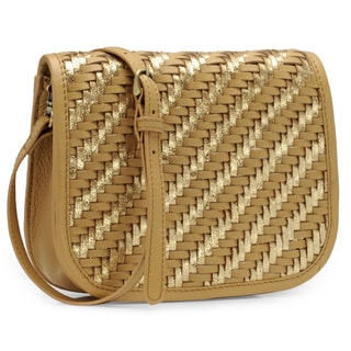 Jasbir Gill Women's Tan and Gold Leather Clutch (India)