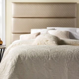 Humble + Haute Hereford King Size Golden Beige Upholstered Headboard
