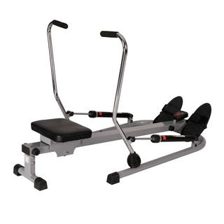 Sunny Health & Fitness SF-RW5619 12 Level Resistance Rowing Machine Rower with Independent Arms - Silver|https://ak1.ostkcdn.com/images/products/13402826/P20098483.jpg?impolicy=medium