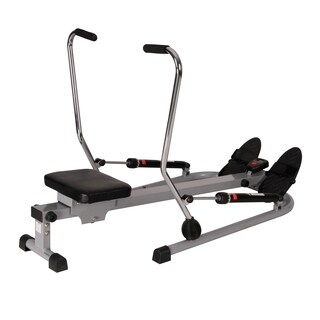 Sunny Health & Fitness SF-RW5619 12 Level Resistance Rowing Machine Rower with Independent Arms - Silver