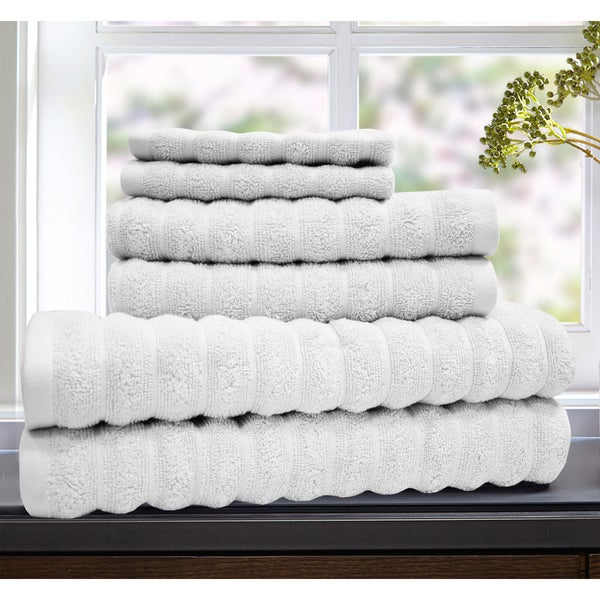 Luxury Premium Hotel Collection 100% Cotton 6 Piece Plush Towel Set