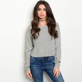 Shop The Trends Women's Long Sleeve Knit Sweater Top