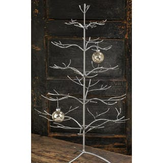 Silver Metal 36-inch Ornament Tree (Option: Silver)