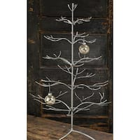 Silver Metal 36-inch Ornament Tree