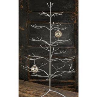Silver Metal 36-inch Ornament Tree