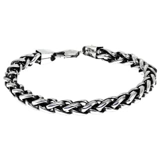 Stainless Steel Men's Wheat Chain Bracelet