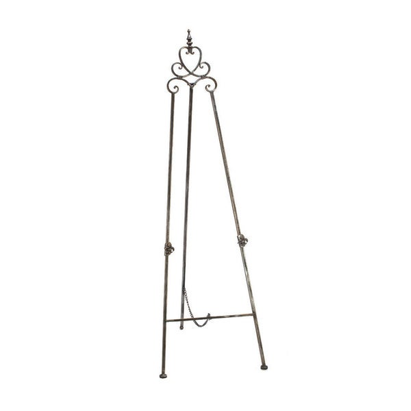 floors scrolling w display easel metal floor stands black plate table decorative stand easels