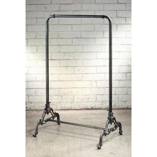 Black Iron Metal 56-inch Clothing Rack