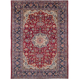 ecarpetgallery Hand-Knotted Isfahan Red Wool Rug (10'5 x 14'2)