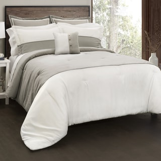 Lush Decor Contemporary Block 6 Piece Comforter Set