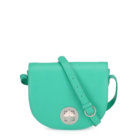 Handmade Phive Rivers Women's Leather Crossbody Bag (Green, PR1219) - One size (Italy)