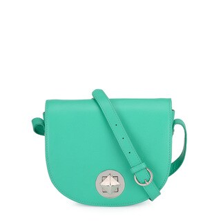 Handmade Phive Rivers Women's Seafoam Green Leather Crossbody (Italy)