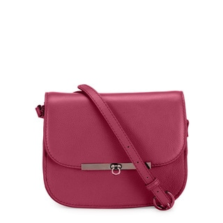 Phive Rivers Women's Leather Crossbody Bag (Pink, PR1230)