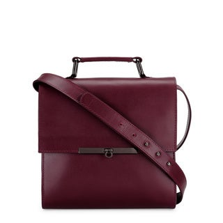 Phive Rivers Women's Leather Crossbody Bag (Burgundy, PR1229)
