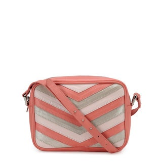 Phive Rivers Women's Leather Crossbody Bag (Coral, PR1218)