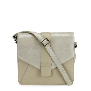 Phive Rivers Women's Leather Crossbody Bag (Beige, PR1214)