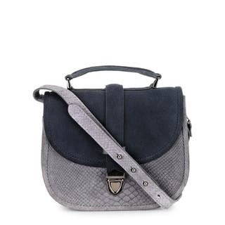 Handmade Phive Rivers Women's Leather Crossbody Bag (Grey, Italy)|https://ak1.ostkcdn.com/images/products/13403047/P20098868.jpg?impolicy=medium