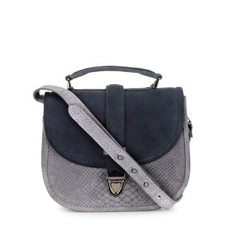 Handmade Phive Rivers Women's Leather Crossbody Bag (Grey, Italy)