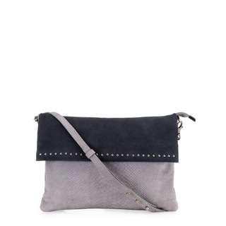 Phive Rivers Women's Leather Crossbody Bag (Grey, PR1222)