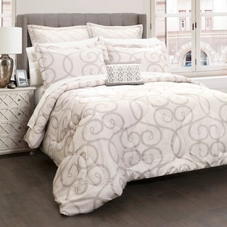 Lush Decor Elegant Scroll 6 Piece Comforter Set