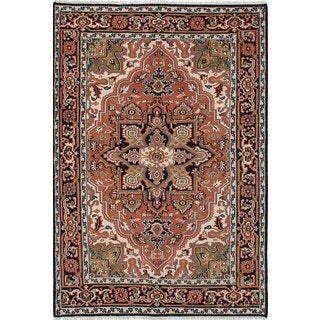 ecarpetgallery Hand-Knotted Royal Heriz Brown Wool Rug (6'1 x 8'10)