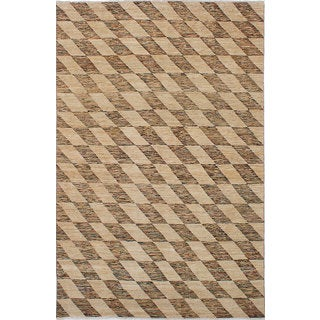 ecarpetgallery Hand-Knotted Peshawar Ziegler Ivory Wool Rug (6'6 x 10'0)