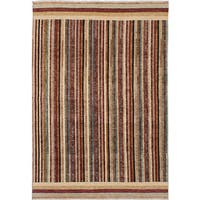 ecarpetgallery Hand-Knotted Peshawar Ziegler Ivory, Red Wool Rug (6'1 x 8'9)