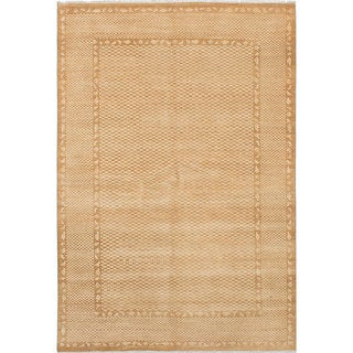ecarpetgallery Hand-Knotted Peshawar Ziegler Brown Wool Rug (6'2 x 9'2)
