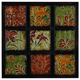 Urban Designs 'Flowers And Vines' Metal Textured Wall Decor