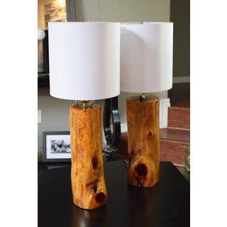 USA Made Ozark Cedar Lamp Set