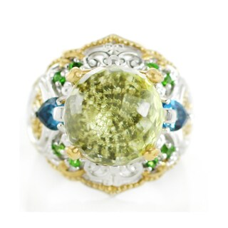 One-of-a-kind Michael Valitutti Paharaja Cut Green Quartz, London Blue Topaz and Chrome Diopside Ring|https://ak1.ostkcdn.com/images/products/13403127/P20098775.jpg?_ostk_perf_=percv&impolicy=medium