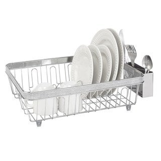 Kitchen Details Chrome Dish Rack with Plastic Cup