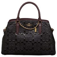 Coach Signature Debossed Patent Small Margot Satchel