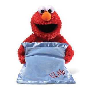 Gund Red Polyester Sesame Street Peek-a-boo Elmo Animated Toy