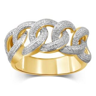 Unending Love 10k Yellow Gold 5/8ct TDW Diamond Men's Ring (I-J, I2-I3)