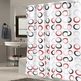 Red Shower Curtains For Less | Overstock.com - Vibrant Fabric Bath ...