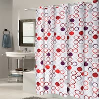 EZ On Boho Fabric With Built in Hooks Shower Curtain