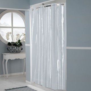 EZ On Super Clear 100 Percent EVA Shower Curtain Liner With Built In Hooks