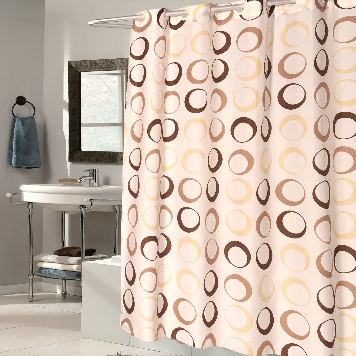 EZ On Brown Circles 100-percent EVA With Built in Hooks S...