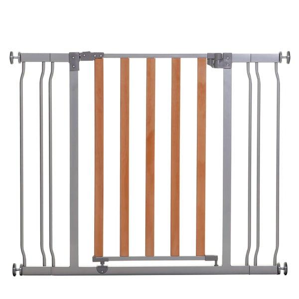 Shop Dreamababy Cosmopolitan Security Gate Grey Brown