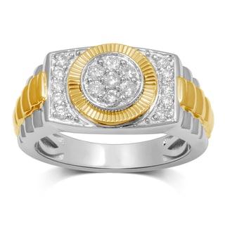 Unending Love 10k Two-tone Gold 1/2ct TDW Diamond Men's Ring (H-I, I3)
