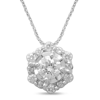 Unending Love 10k White Gold 1/4ct TDW Diamond Fashion Pendant (I-J, I2-I3)