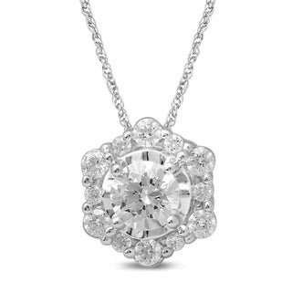 Unending Love 10k White Gold 2/5ct TDW Diamond Fashion Pendant (I-J, I2-I3)
