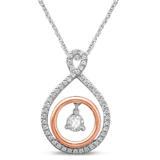 Unending Love 10k Two-tone Gold 1/4ct TDW Diamond Fashion Pendant (I-J, I2-I3)