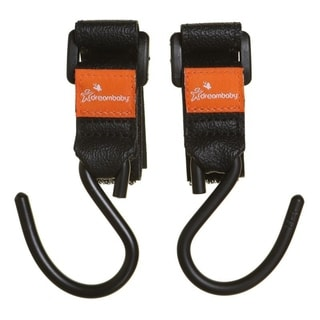 Dreambaby Strollerbuddy EZY-Fit Aluminum Stroller Hooks (Set of 2) (Black)