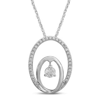 Unending Love 10k White Gold 1/5ct TDW Diamond Fashion Pendant (I-J, I2-I3)