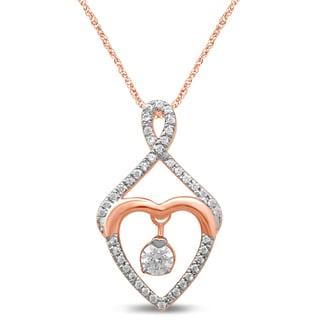 Unending Love 10k White Gold 1/4ct TDW Diamond Fashion Pendant (I-J, I2-I3)
