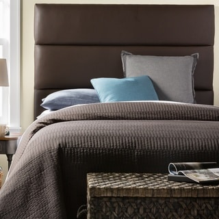 Humble + Haute Hereford King Size Dark Brown Upholstered Headboard